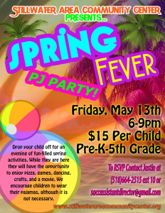 Spring Fever PJ Party Flyer